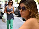 Sombre Elisabetta Canalis seen for first time since announcing heartbreaking miscarriage