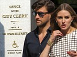 Making it legal? Engaged couple Olivia Palermo and Johannes Huebl 'get marriage license at the City Clerk in NYC'