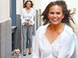 On Wednesday, swimsuit model Chrissy Teigen, 28, was again spotted strolling down the street with her dog Pippa in New York City