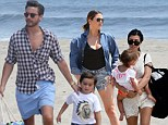 Now, pregnant Kourtney Kardashian and Scott Disick play happy families as they join Khloé to film on the beach in the Hamptons