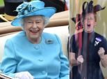 Royal Ladies' Day! A smiling Queen joins Princesses Beatrice and Eugenie on day three of Ascot - and comes second in Gold Cup as Sophie Countess of Wessex helps cheer on the race