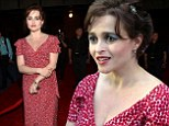 Helena Bonham Carter swaps her quirky look for elegant red frock at opening of new Harry Potter Diagon Alley theme park