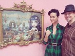 Thrilled: Katy Perry shared a snap with artist Mark Ryden on Thursday at his show in Hollywood at the Kohn Gallery
