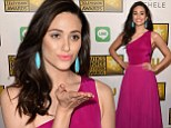Magical in magenta: Emmy Rossum was pretty in pink as she attended the Critics' Choice Television Awards in Beverly Hills on Thursday