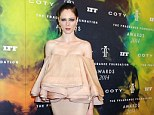 Blooming style: Coco Rocha says that when she arrived to New York as a model her agent told her to throw her clothes away - a problem she definitely doesn't encounter now as evidenced by this dress she wore to Monday's Fragrance Foundation Awards