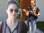 Television star: Sophia Bush flashed a cute little dimple on Thursday while out in West Hollywood, California
