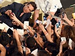 International star power: Ben Stiller was mobbed by a mass of fans at the 60th Taormina Film Fest in Taromina, Italy on Thursday