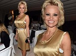 Pamela Anderson is a golden girl at the Taormina Film Fest gala dinner in Italy