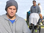 The man can multitask! Channing Tatum heads out for a jog in Vancouver while pushing one-year-old daughter Everly in her pram