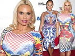 Battle of the busts! Coco Austin and Adrienne Bailon wear VERY tight-fitting dresses to Think Like A Man Too premiere