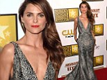 Taking the plunge! Keri Russell sets pulses racing in risque low-cut gown at Critics' Choice Awards