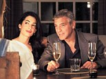 Political union: George Clooney's aunt, Starla Clooney, says the actor plans to enter politics and that his fiancee Amal Alamuddin, 36, (left) will help him achieve his ambitions
