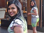 2663439 Making an entrance! Bootylicious Office star Mindy Kaling turns heads in figure-hugging dress as she heads into event in New York