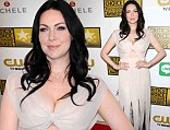 Orange Is The New Black's Laura Prepon steals the show at Critics' Choice TV Awards in plunging floor-length gown