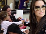 Real Housewives Of Beverly Hills star Kyle Richards takes daughter Portia to nail salon for a manicure and pedicure... and she's only SIX years old