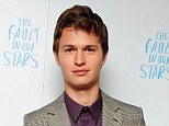 Eye candy: Ansel Elgort plays Augustus in The Fault In Our Stars - which has been a box office sensation in the US