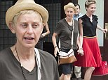 Just your average tourists? Ellen DeGeneres and Portia de Rossi dress down in comfie togs to take in the Big Apple