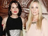 Upstairs and downstairs unite: Downton Abbey stars Michelle Dockery and Joanne Froggatt get glam for charity event