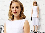 Natalie Portman puts on another effortlessly stylish display in white dress as she attends Miss Dior exhibition in China