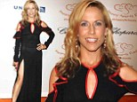 Sheryl Crow flashes panties beneath ultra-sheer black gown at Happy Hearts Fund Gala in NYC