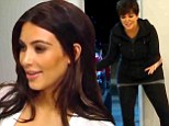 Kris Jenner jokingly calls daughter Kim Kardashian 'a piece of s**t!' as they row over who will clean up after Kendall's dog