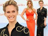 Sports Illustrated cover girls Bar Refaeli and Rachel Hunter don long gowns to dazzle the Raffaello summer bash in Berlin