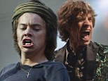 He's got the moves like Jagger! Harry Styles takes inspiration from Rolling Stones frontman and fellow Kabbalah devotee Mick as he writhes about on stage