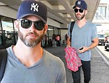 Not something to Pine for! Chris shows off greying beard as he catches flight out of  LAX
