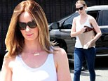 Back in her skinny jeans! Emily Blunt slips her svelte post-baby body into tight denim four months after welcoming Hazel