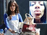 Make-up free Zoe Saldana dons dungarees to shop at Whole Foods after thanking Twitter fans for birthday wishes