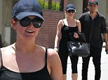 Keeping their relationship fit! Ashlee Simpson shows off slender figure in black leggings after working out with fiancé Evan Ross