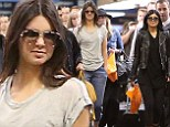 The jet set! Kendall and Kylie Jenner fly out of Los Angeles after being home for just a few days
