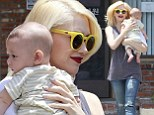 Gwen Stefani bonds with baby Apollo as she wears ripped jeans to acupuncture clinic