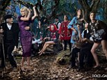 Dolce & Gabbana Fall 2014 campaign. The accompanying ad campaign takes that theme to the next level. In standard Dolce & Gabbana form, the images, shot by Domenico Dolce, feature clusters of people in various acted-out scenarios. German supermodel Claudia Schiffer joins the likes of Bianca Balti, Kate Bogucharskaia, and Nastya Sten in a lush fairy tale-like forest, where Sicilian men serve up fruit and some serious admiration.dolce-and-gabbana-winter-2015-women-advertising-campaign-01.jpg