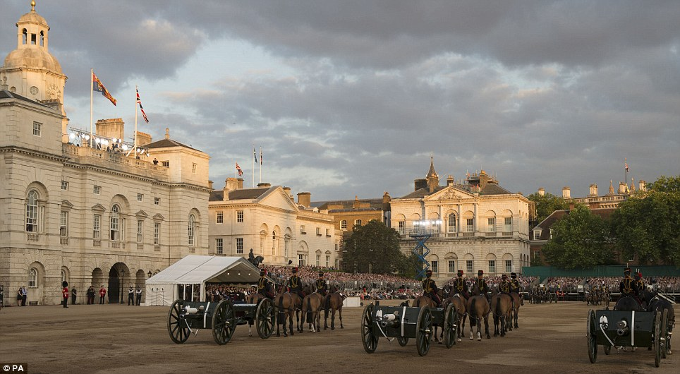 The final performance of the Household Division's Beating Retreat when the Duke of Cambridge took salute at Horse Guards Parade