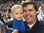 Tragedy: Baby Cooper with his father Justin Ross Harris - who has been charged with murder and cruelty to children in the first degree after the death of his son in Atlanta on Wednesday