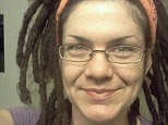 Wanted: Leilani Novak-Garcia, pictured, who goes by the pseudonym 'Hitler' is on the run after allegedly stabbing a man multiple times at the annual Rainbow Family gathering that is taking place in a Utah national forest