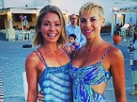 Best friends: Jessica Seinfeld posted a snap from her Greek holiday with Kelly Ripa on Monday