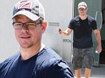 Bourne again action man! Matt Damon shows off his muscular physique after getting pumped at gym in West Hollywood