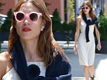If anyone can do it, she can! Alexa Chung manages to make preppy look cool on a New York stroll