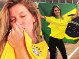 Brazil's Angels! Victoria's Secret stars Gisele Bundchen and Alessandra Ambrosio show why the World Cup home team have the hottest fans
