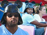 Scrubs star Donald Faison is a big kid at heart as he celebrates 40th birthday with wife CaCee Cobb at Disneyland