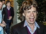 He was in Rome performing with the Rolling Stones. And after a concert in the city¿s Circo Massimo on Sunday, Mick Jagger enjoyed dinner at a typical Italian restaurant.
