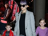 Team Purple! Nicole Richie and the kids jet out of LA on their way to Sydney to support The Voice Australia star Joel Madden