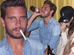 Scott Disick parties with a mystery brunette at his belated birthday bash in The Hamptons
