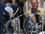 Seen for the first time since the accident, Ford, 71, had his left foot in plaster as he prepared to jet back from London to the US for rehabilitation