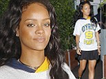 Laundry day! Rihanna dresses down in baggy Joyrich T-shirt for dinner at her favourite restaurant