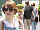 Emma Stone dons dungarees while on romantic NYC stroll with boyfriend Andrew Garfield