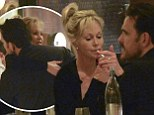 Look away Antonio! Melanie Griffith has cozy dinner with actor Matt Dillon... and lights up a cigarette in restaurant