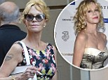 It's back! Melanie Griffith shows off Antonio Banderas love tattoo in Italy... after covering it up
